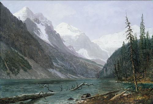 Canadian Rockies (Lake Louise) 1889 | Albert Bierstadt | Oil Painting