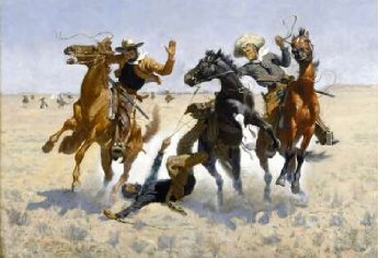 Aiding a Comrade 1889-90 | Frederic S Remington | Oil Painting