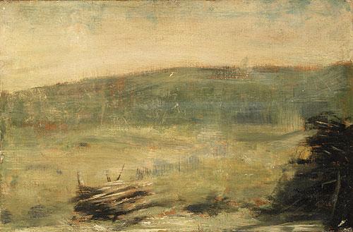 Landscape at Saint Ouen 1878 or 1879 | Georges Pierre Seurat | Oil Painting