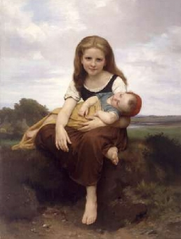 The Elder Sister 1869 | William Bouguereau | Oil Painting