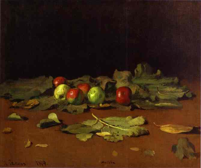 Apples And Leaves 1879 | Ilya Repin | Oil Painting