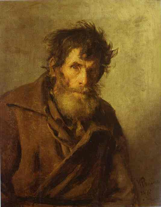 A Shy Peasant 1877 | Ilya Repin | Oil Painting