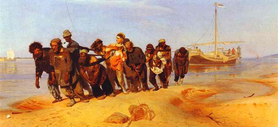 Barge Haulers On The Volga 1870-1873 | Ilya Repin | Oil Painting