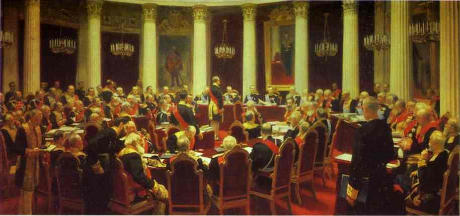 Ceremonial Meeting Of The State Council 1903 | Ilya Repin | Oil Painting