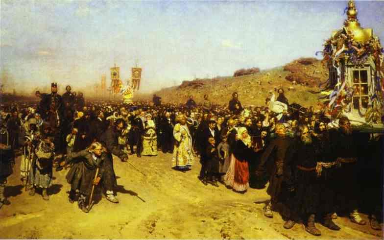 Krestny Khod (Religious Procession) In Kursk Gubernia 1880-1883 | Ilya Repin | Oil Painting