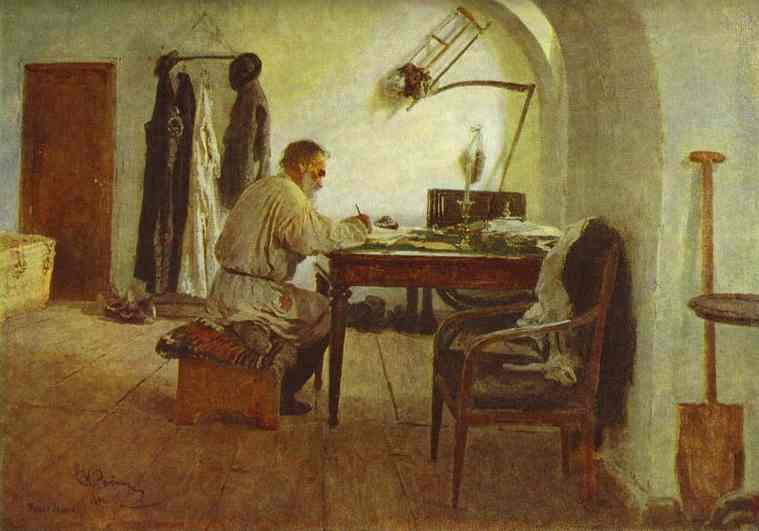 Leo Tolstoy In His Study 1891 | Ilya Repin | Oil Painting