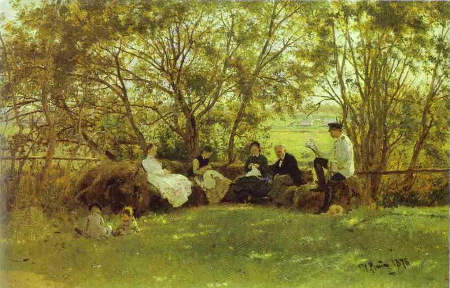 On A Turf Bench 1876 | Ilya Repin | Oil Painting
