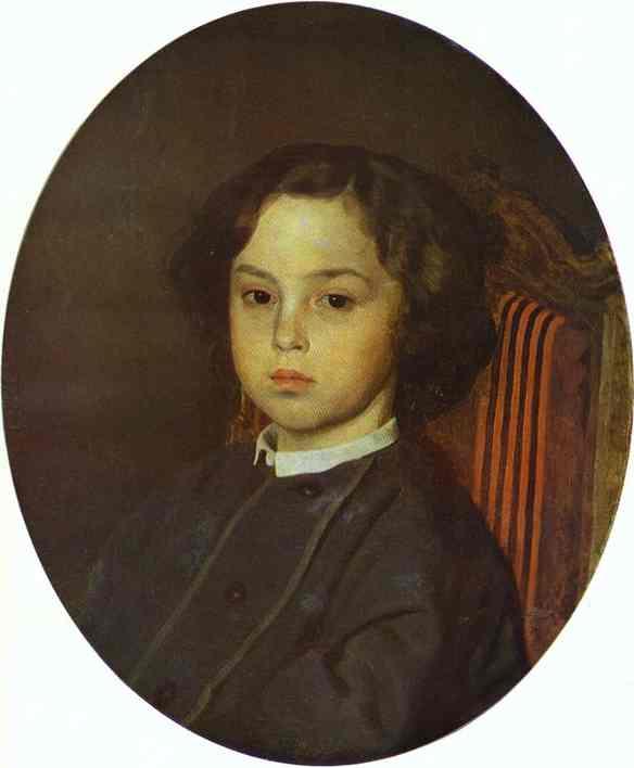 Portrait Of A Boy 1867 | Ilya Repin | Oil Painting
