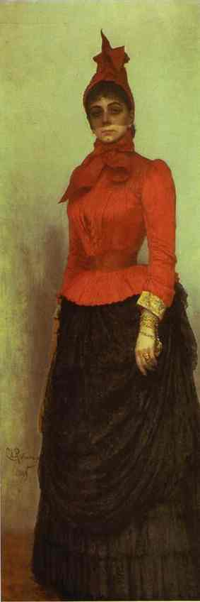 Portrait Of Baroness Varvara Ikskul Von Hildenbandt 1889 | Ilya Repin | Oil Painting