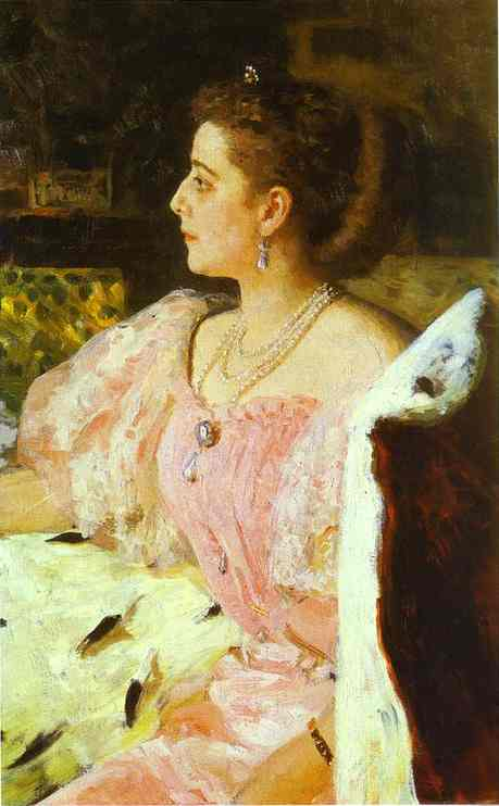 Portrait Of Countess Natalia Golovina 1896 | Ilya Repin | Oil Painting