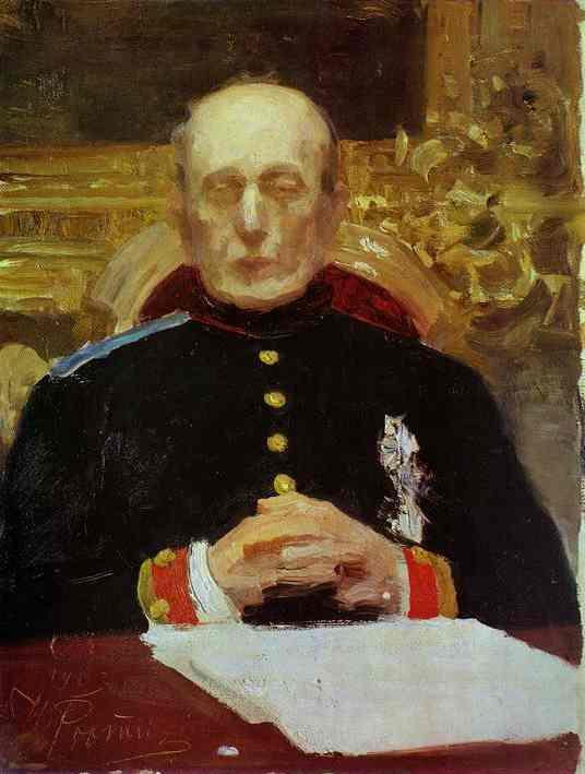 Portrait Of K Pobedonostsev Study 1903 | Ilya Repin | Oil Painting