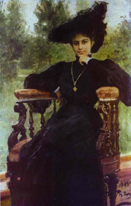 Portrait Of Maria Andreeva 1905 | Ilya Repin | Oil Painting