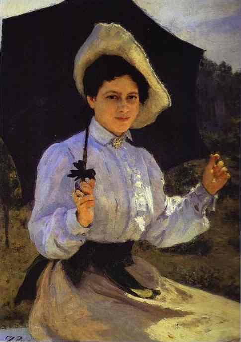 Portrait Of Nadezhda Repina The Artists Daughter 1900 | Ilya Repin | Oil Painting