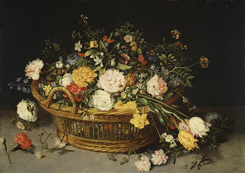 A Basket of Flowers | Jan Brueghel the Elder | Oil Painting