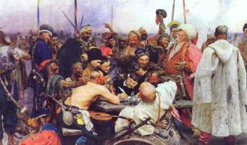 The Reply Of The Zaporozhian Cossacks To Sultan Mahmoud Iv 1880-1891 | Ilya Repin | Oil Painting