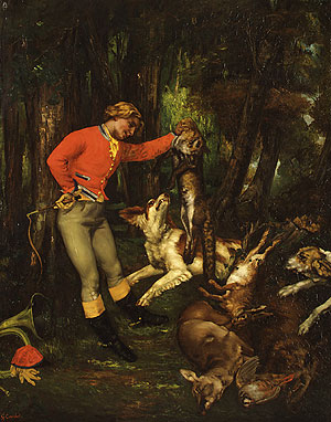 After the Hunt probably ca. 1859 | Jean Dir Gustave Courbet | Oil Painting