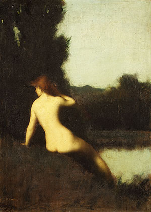 A Bather mid 1880s | Jean Jacques Henner | Oil Painting