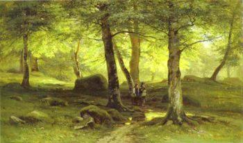 In The Grove 2 1865   Ivan Shishkin   Oil Painting