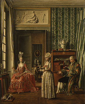Domestic Scene   Johann Eleazer Zeissig Schenau   Oil Painting
