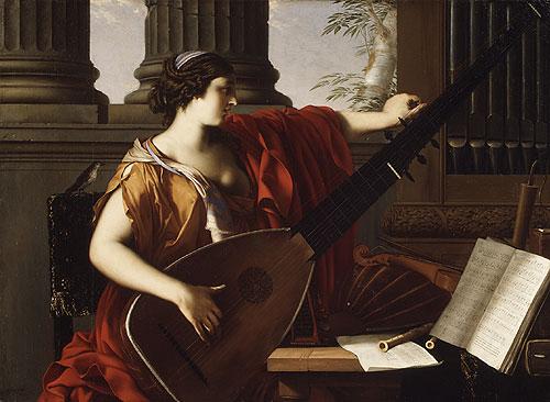 Allegory of Music 1649   Laurent de La Hyre   Oil Painting