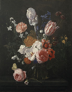 A Bouquet of Flowers in a Crystal Vase 1662 | Nicolaes van Veerendael | Oil Painting