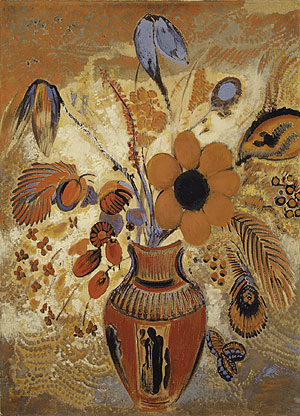 Etruscan Vase with Flowers   Odilon Redon   Oil Painting