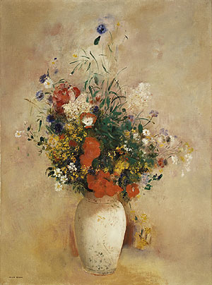 Flowers in a Chinese Vase ca. 1906   Odilon Redon   Oil Painting