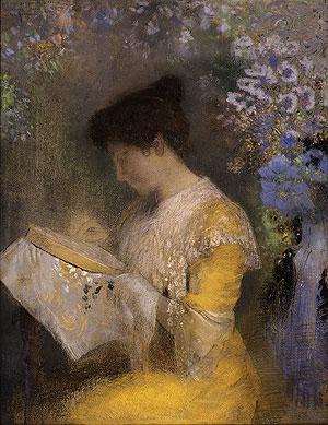 Madame Arthur Fontaine (Marie Escudier) 1901   Odilon Redon   Oil Painting