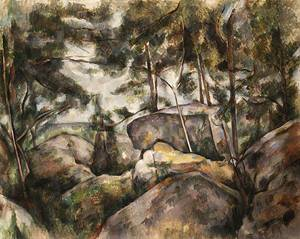 Rocks in the Forest 1890s | Paul Cezanne | Oil Painting