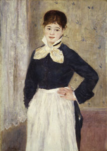A Waitress at Duval's Restaurant ca. 1875 | Pierre Auguste Renoir | Oil Painting