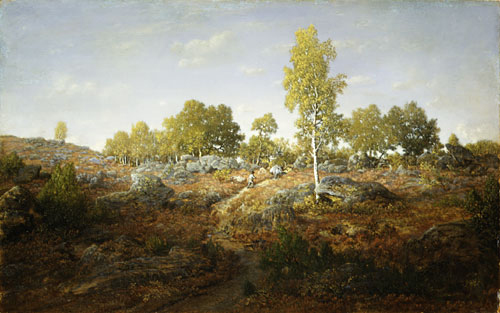 A Path among the Rocks probably 1861 | Pierre etienne Thedore Rousseau | Oil Painting