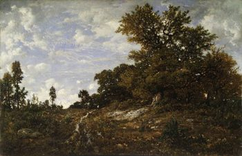 The Edge of the Woods at Monts Girard 1854 | Pierre etienne Thedore Rousseau | Oil Painting