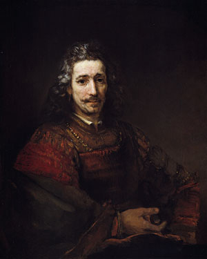 Man with a Magnifying Glass early 1660s | Rembrandt | Oil Painting