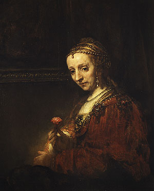 Woman with a Pink early 1660s | Rembrandt | Oil Painting