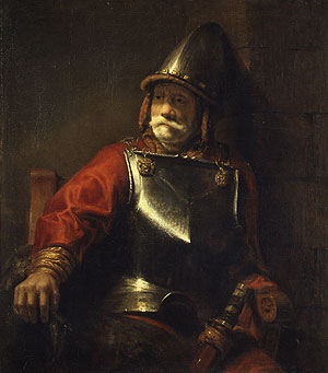 Man in Armor | Style of Rembrandt | Oil Painting