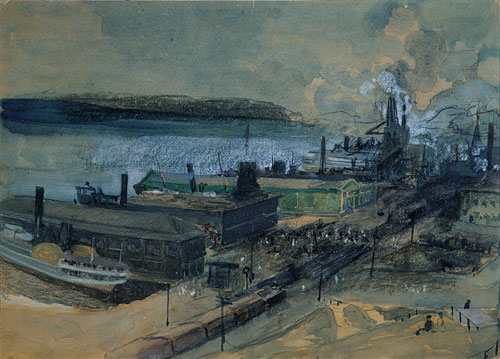 125 Street Ferry | George Overbury Hart | Oil Painting