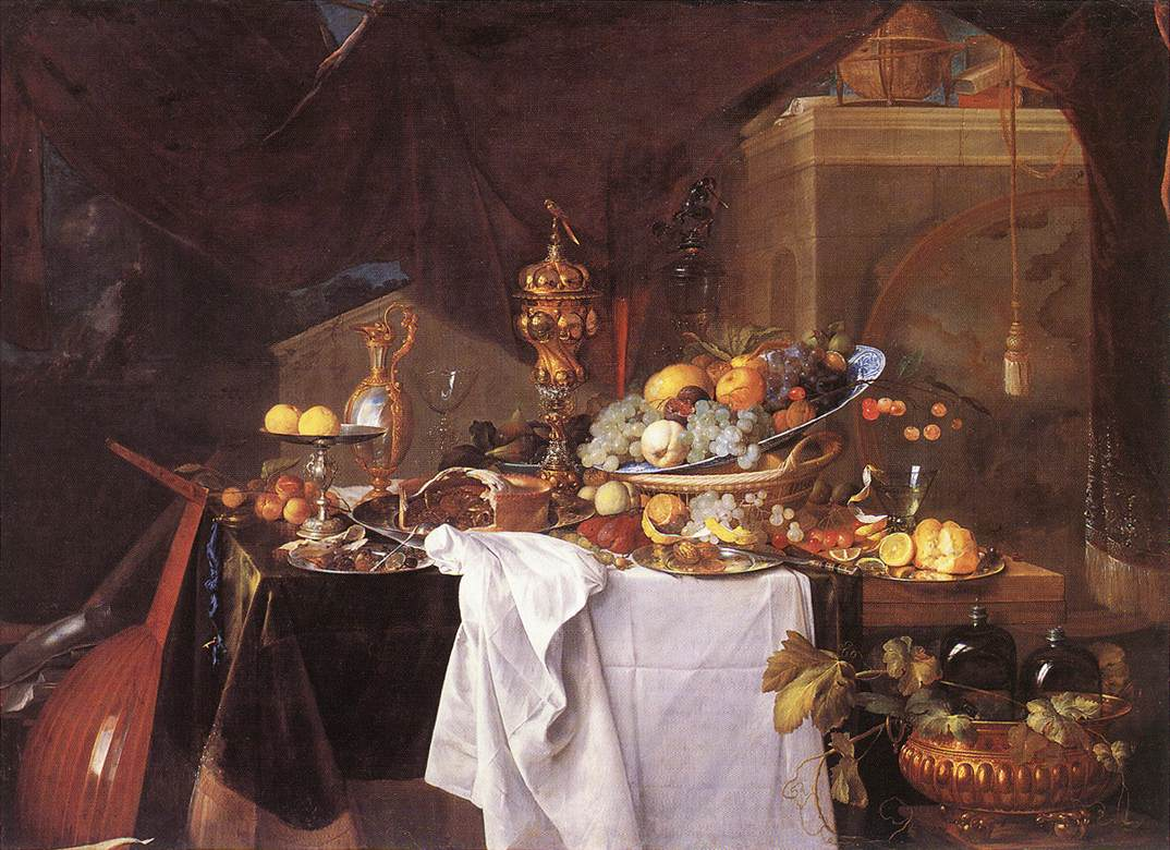 A Table Of Desserts 1640 | Jan Davidsz De Heem | Oil Painting