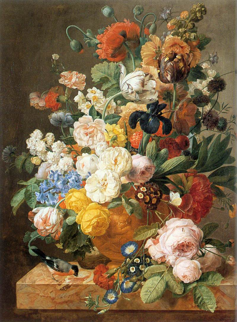Bouquet of flowers in a sculpted vase painting jan frans eliaerts bouquet of flowers in a sculpted vase jan frans eliaerts oil painting izmirmasajfo