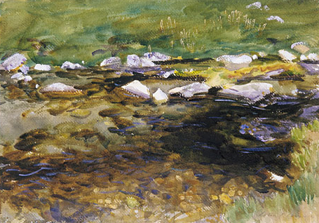 Brook and Meadow ca 1909 | John Singer Sargent | Oil Painting