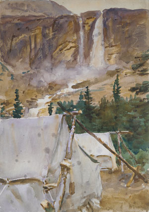 Camp and Waterfall 1916 | John Singer Sargent | Oil Painting