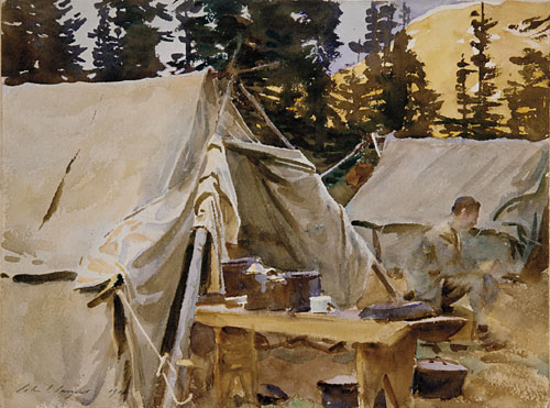 Camp at Lake O'Hara 1916 | John Singer Sargent | Oil Painting