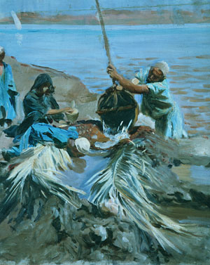 Egyptians Raising Water from the Nile | John Singer Sargent | Oil Painting