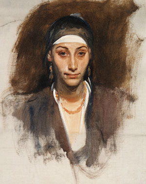 Egyptian Woman with Earrings | John Singer Sargent | Oil Painting