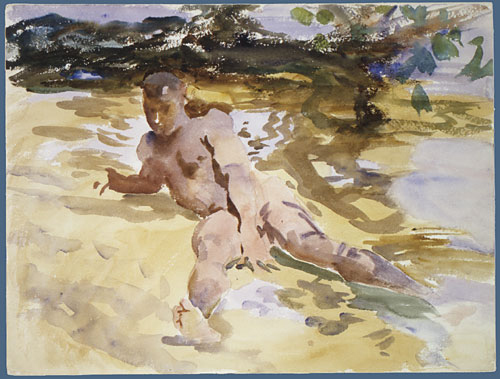 Figure on Beach Florida 1917 | John Singer Sargent | Oil Painting