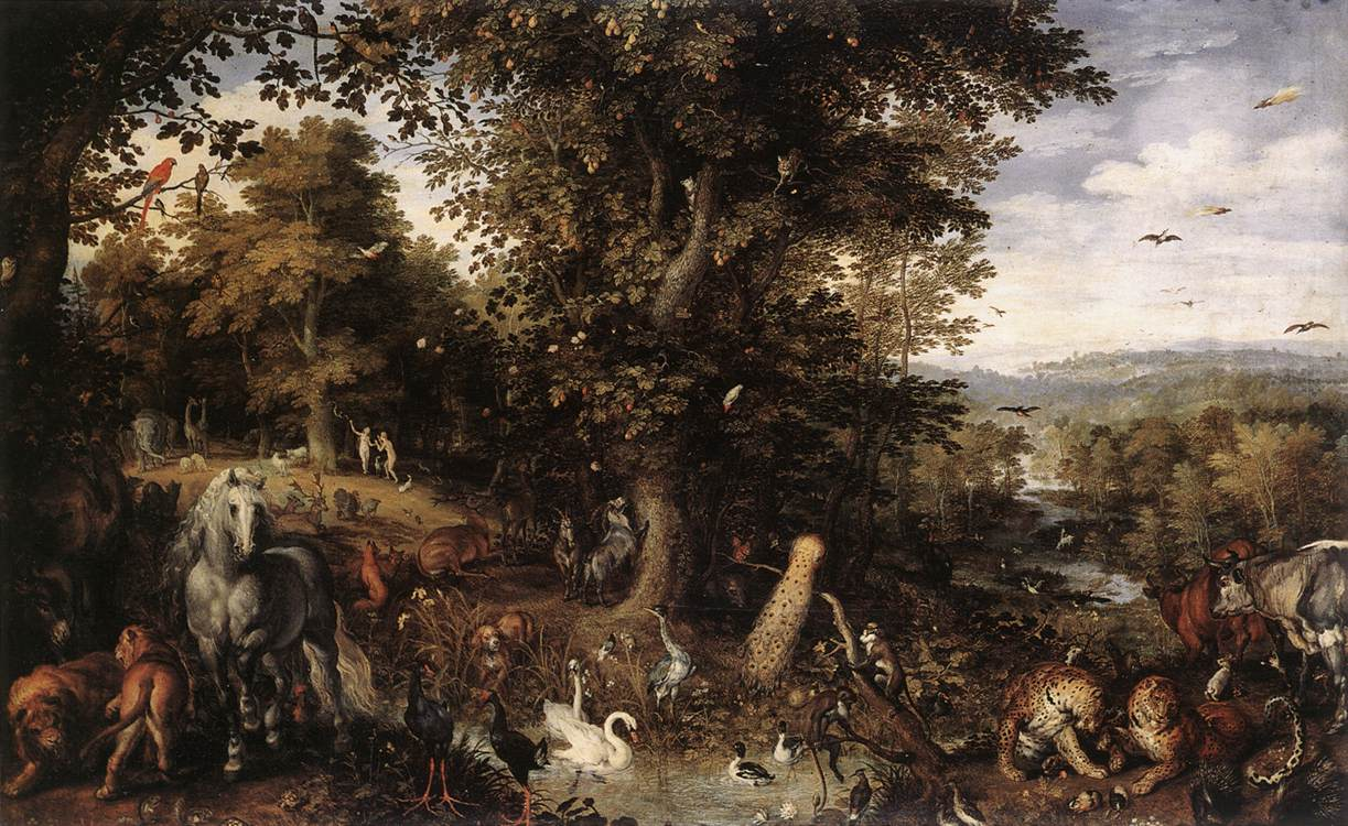Garden Of Eden 1612 Painting | Jan The Elder Brueghel Oil Paintings