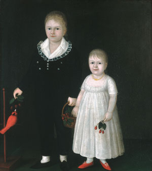 Edward and Sarah Rutter 1805 | Joshua Johnson | Oil Painting