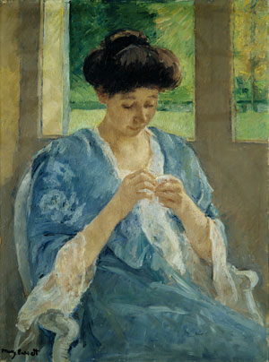 Augusta Sewing Before a Window 1905 | Mary Cassatt | Oil Painting