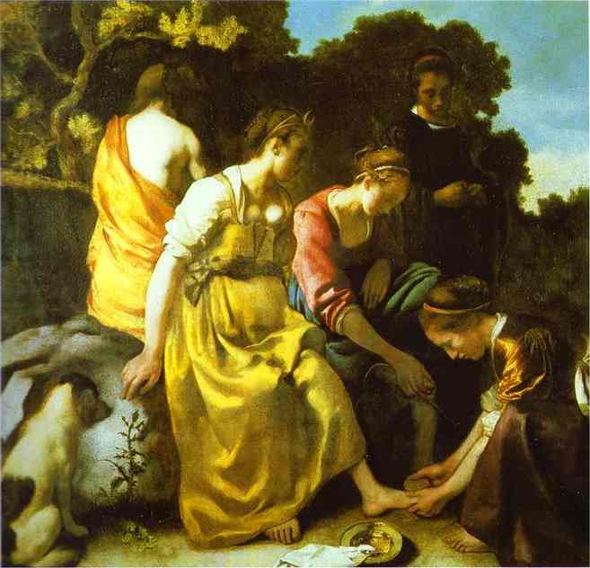 Diana And Her Companions 1655-1656 | Jan Vermeer | Oil Painting