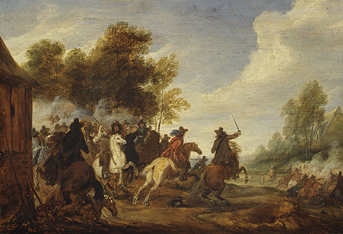 A Cavalry Engagement | Adam Frans van der Meulen | Oil Painting