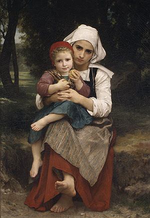 Breton Brother and Sister 1871 | Adolphe William Bouguereau | Oil Painting